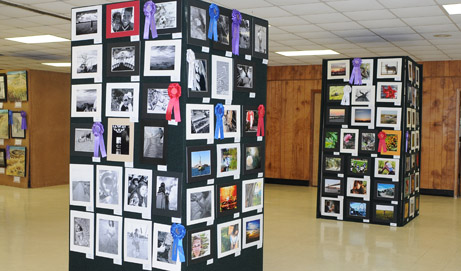 A few entries from 2011 Photography Contest on display.